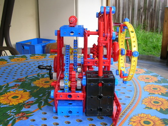 meccano block setting crane instructions